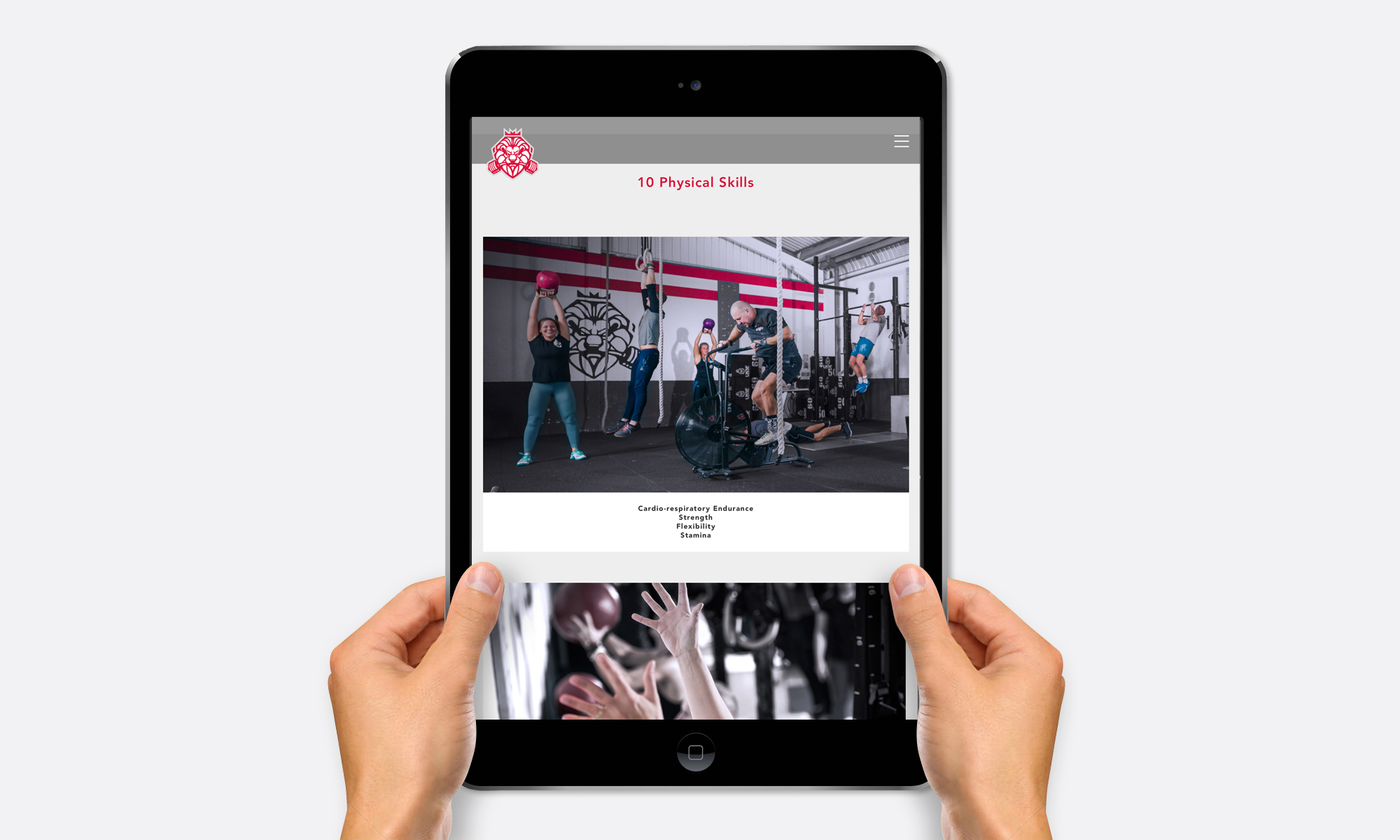 crossfit hayle work website ipad